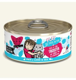 Weruva Best Feline Friend PLAY Land & Sea Pate | Duck & Tuna Trickster Dinner in Puree 5.5 oz single