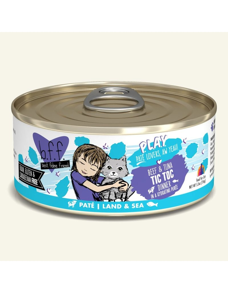 Weruva Weruva BFF PLAY Land & Sea Pate   Beef & Tuna Tic Toc Dinner in Puree 5.5 oz single