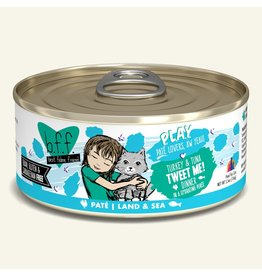 Weruva Best Feline Friend PLAY Land & Sea Pate | Turkey & Tuna Tweet Me Dinner in Puree 5.5 oz single