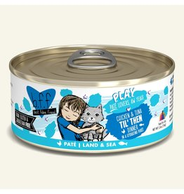 Weruva Best Feline Friend PLAY Land & Sea Pate | Chicken & Tuna Til' Then Dinner in Puree 5.5 oz single
