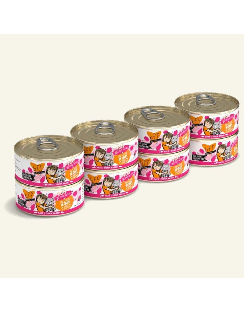 Weruva Best Feline Friend PLAY Land & Sea Pate | Tuna & Salmon Oh Snap! Dinner in Puree 5.5 oz single
