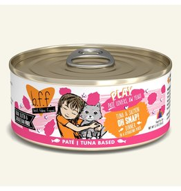 Weruva Best Feline Friend PLAY Land & Sea Pate | Tuna & Salmon Oh Snap! Dinner in Puree 5.5 oz single