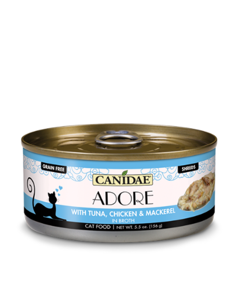 Canidae Canidae GF Pure Adore Canned Cat Food CASE Tuna, Chicken & Mackerel in Broth 5.5 oz