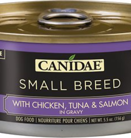 Canidae Canidae Small Breed Chunks Canned Dog Food | CASE Chicken, Tuna & Salmon in Gravy 5.5 oz