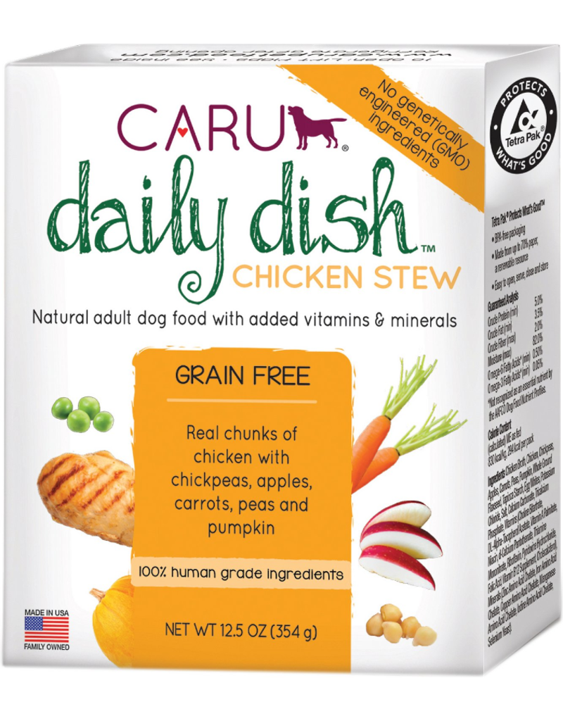 Caru Caru Dog Daily Dish Stew Chicken 12.5 oz single
