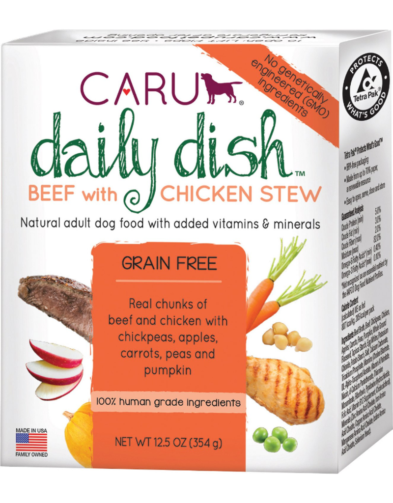 Caru Caru Dog Daily Dish Stew Beef/Chicken 12.5 oz single