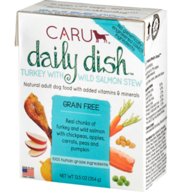 Caru Caru Dog Daily Dish Stew Turkey & Salmon 12.5 oz single