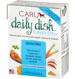 Caru Caru Dog Daily Dish Stew CASE Turkey 12.5 oz