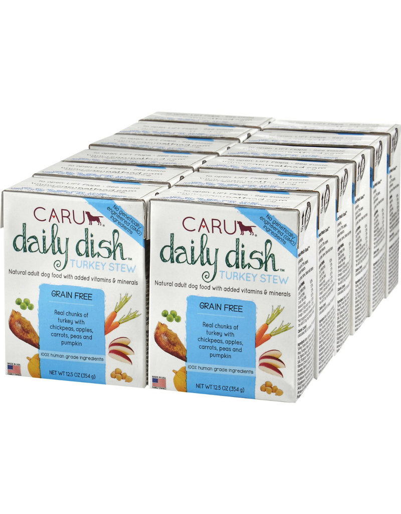 Caru Caru Dog Daily Dish Stew CASE Turkey 12.5 oz