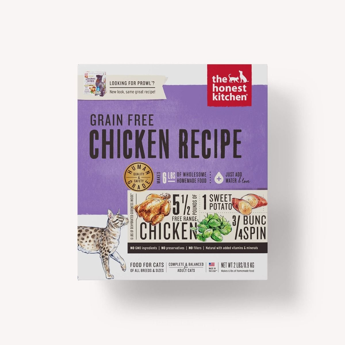 The Honest Kitchen Dehydrated Grain Free Cat Food Prowl Chicken
