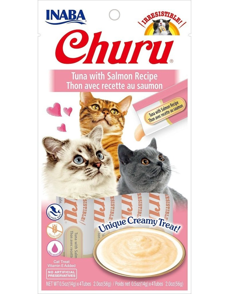 Inaba Inaba Churu Puree Cat Treats Tuna w/ Salmon 2 oz single