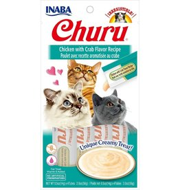 Inaba Inaba Churu Puree Cat Treats Chicken w/ Crab Flavor 2 oz single