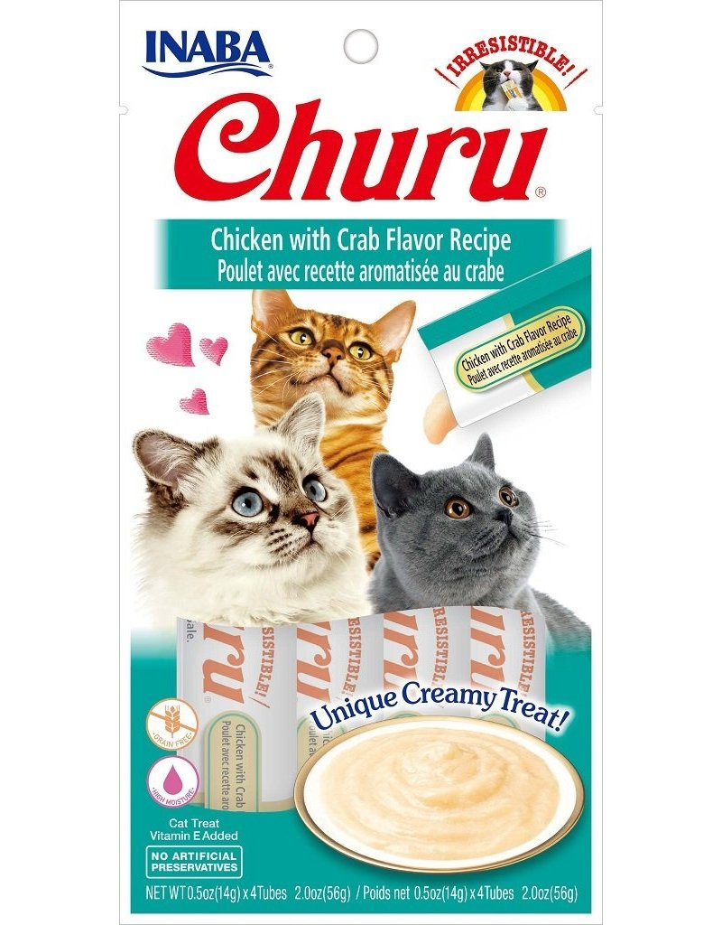 Inaba Inaba Churu Puree Cat Treats Chicken w/ Crab Flavor 2 oz single