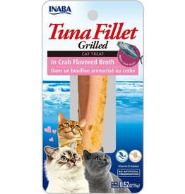 Inaba Inaba Fillets Cat Treats Tuna in Crab Broth .52 oz single