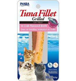 Inaba Inaba Fillets Cat Treats Tuna in Crab Broth .52 oz single