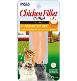 Inaba Inaba Fillets Cat Treats Chicken in Chicken Broth 0.9 oz single