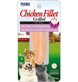 Inaba Inaba Fillets Cat Treats Extra Tender Chicken in Crab Broth .9 oz single