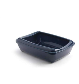 Moderna Open Litter Box Blueberry Jumbo Rim 22.5 in