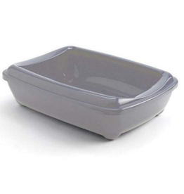 Moderna Open Litter Box Warm Gray Jumbo 22.5 in