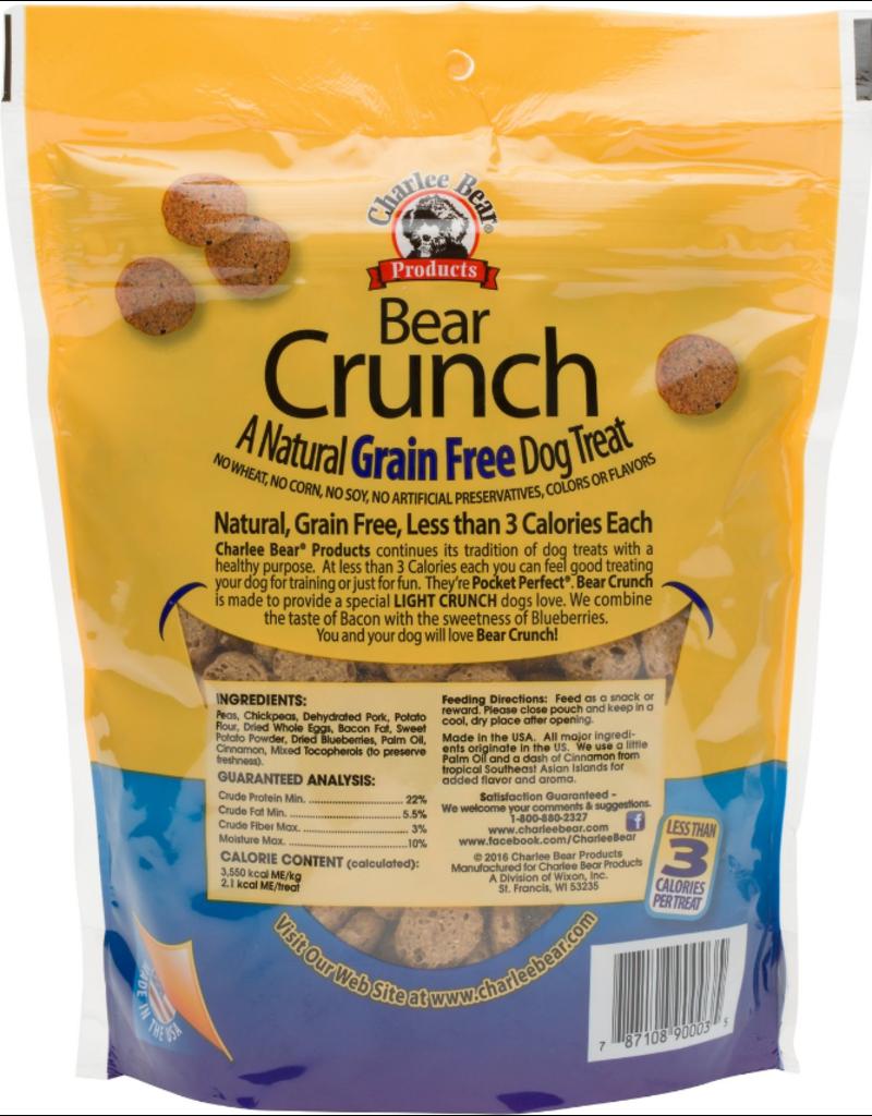 Charlee Bear Charlee Bear BEAR CRUNCH GF Dog Treats Bacon & Blueberry 8 oz