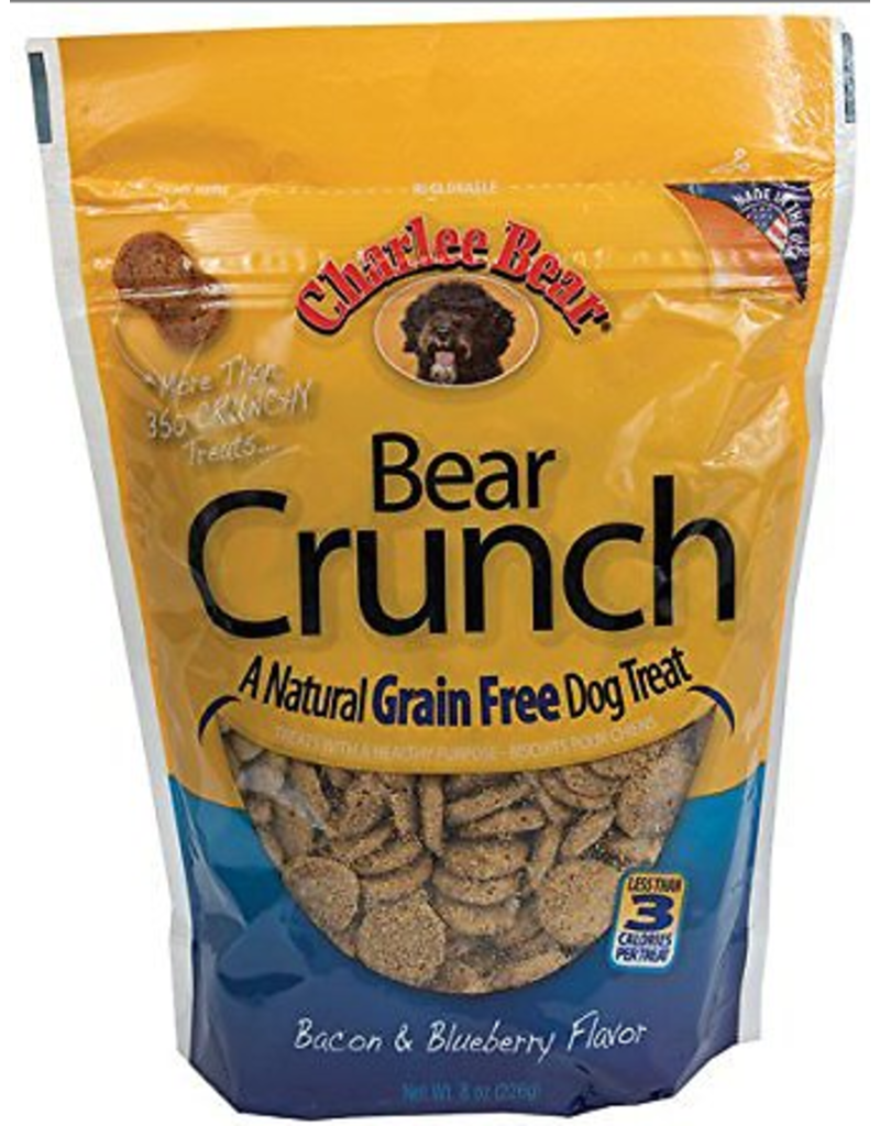 Charlee Bear Charlee Bear BEAR CRUNCH GF Dog Treats Bacon & Blueberry 8 oz
