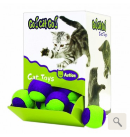 Cosmic Cosmic Cat Toys CASE Fuzzy Tennis Balls 36 pc