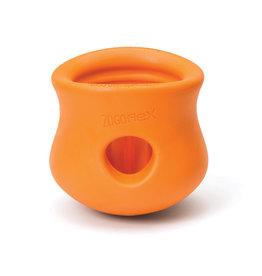 """West Paw West Paw Zogoflex Toppl Tangerine Large 4"""""""