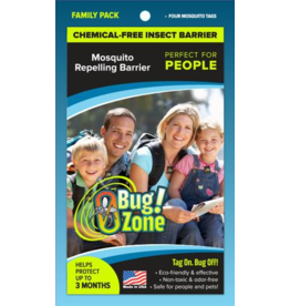 Zero Bug Zone Products  Mosquito Family Pack 4 Tags