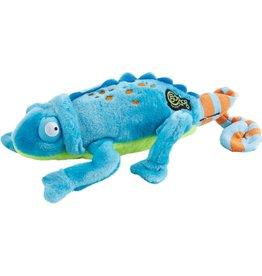 Go Dog Plush Chameleon Turquoise Chew - Large