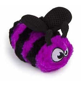 Go Dog Dog Plush Bee W/Chew Guard Purple- Small