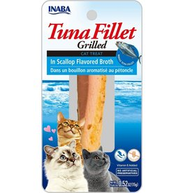 Inaba Inaba Fillets Cat Treats Tuna in Scallop Broth .52 oz single