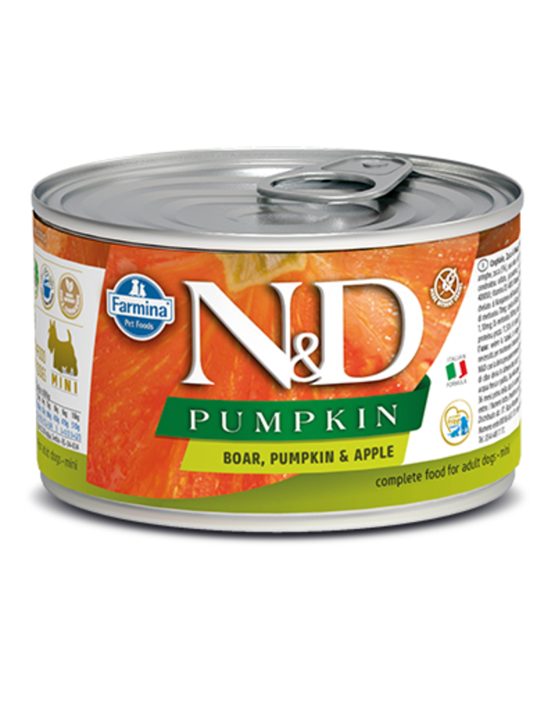 Farmina Pet Foods Farmina GF Dog Cans Pumpkin Boar & Apple Mini Adult 4.9 oz singleFni Adult 4.9 oz singlearmina GF Dog Cans Pumpkin Boar & Apple Mini Adult 4.9 oz single