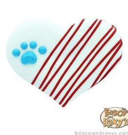 Bosco and Roxy's Bosco & Roxy's Love Your Country American Flag Heart Cookie