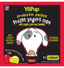 Yoghund Yoghund Frozen Yogurt for Dogs Apple Juice & Cheddar 4 pack / 3.5 oz cups (*Frozen Products for Local Delivery or In-Store Pickup Only. *)