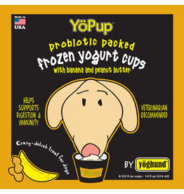 Yoghund Frozen Yogurt for Dogs Banana & Peanut Butter 4 pack