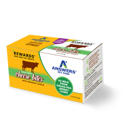 Answer's Pet Food Answers Rewards Raw Cow Cheese Treats Garlic 8 oz (*Frozen Products for Local Delivery or In-Store Pickup Only. *)