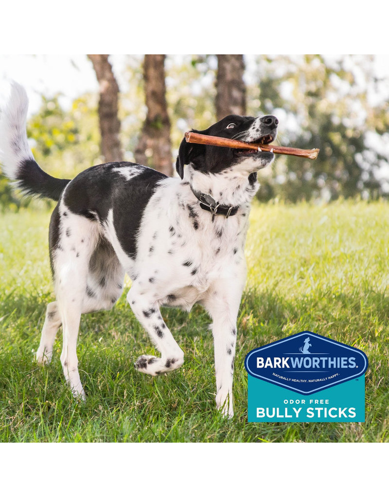 "Barkworthies Barkworthies Bully Stick Odor Free 12"" Double Cut single"