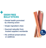 "Barkworthies Barkworthies Bully Stick Odor Free 6"" single"