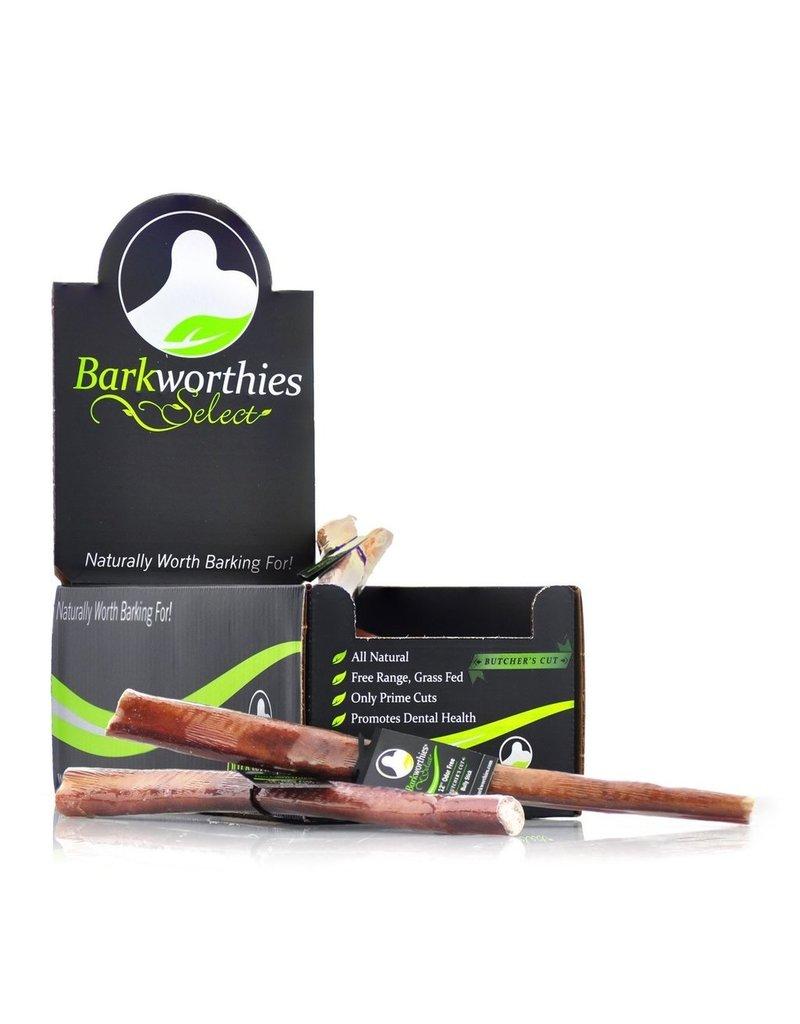 Barkworthies Barkworthies Dog Bully Sticks Odor Free Butchers Cut Thick Bully 12 in