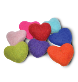 Distinctly Himalayan Hearts Wool Toy single