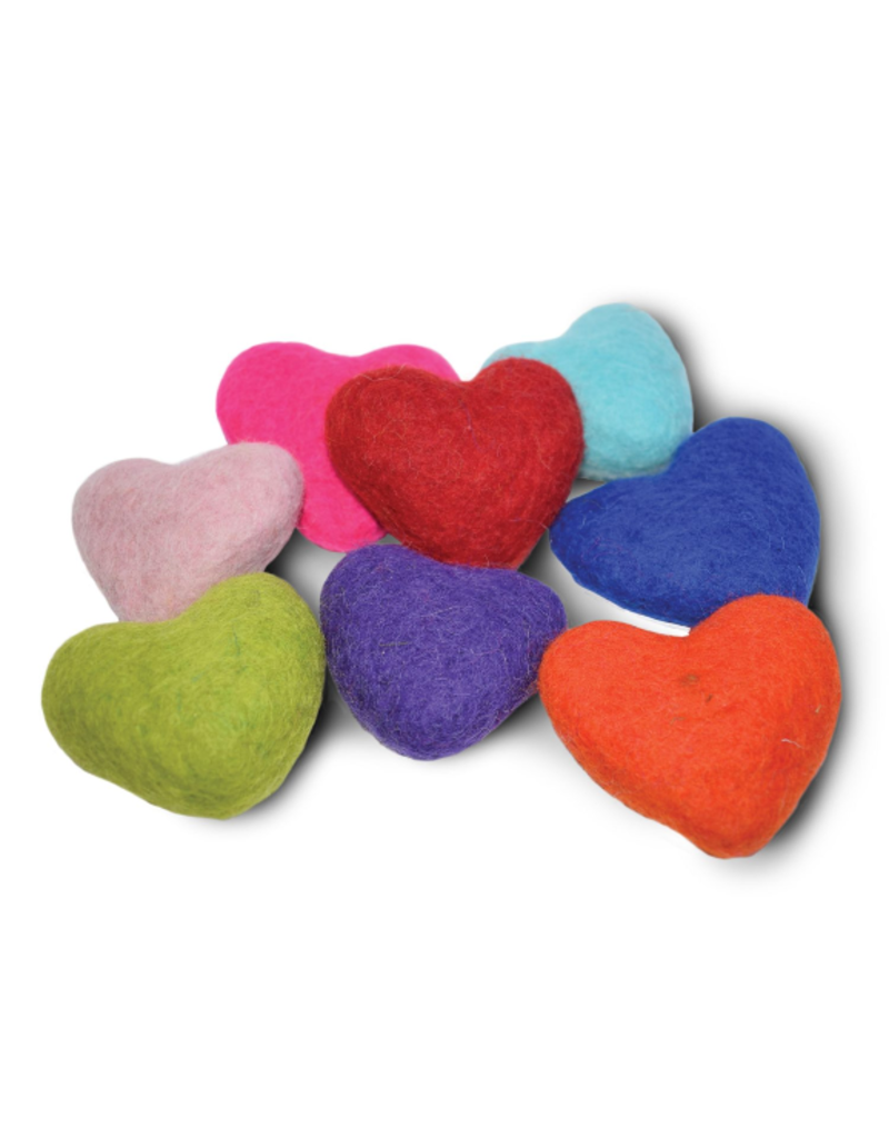 Distinctly Himalayan Hearts Wool Toy single