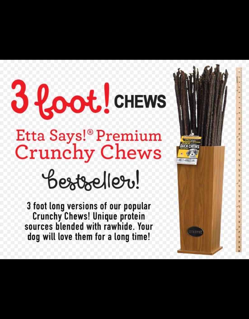 Etta Says Etta Says Dog Crunchy Treats  Crunchy Deer Chew 3 ft