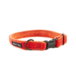 "Planet Dog Planet Dog Cozy Hemp Collars Orange Large 18""-28"""