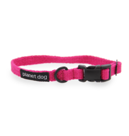 "Planet Dog Planet Dog Cozy Hemp Collars Pink Medium 12""-19"""