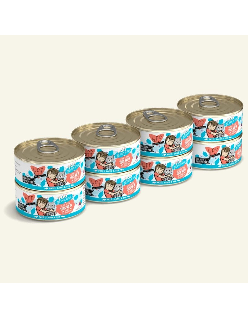 Weruva Best Feline Friend PLAY Land & Sea Pate | Salmon & Tuna Tuck Me In Dinner in Puree 5.5 oz single