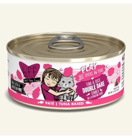 Weruva Best Feline Friend PLAY Tuna Based Pate | Tuna & Duck Double Dare Dinner in Puree 5.5 oz single