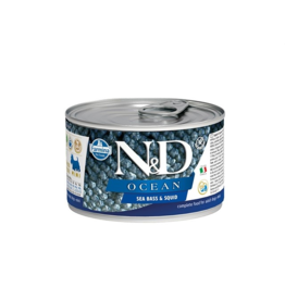 Farmina Pet Foods Farmina GF Dog Cans CASE Ocean Sea Bass & Squid Mini Adult 4.9 oz