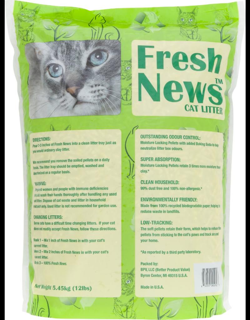 Fresh News Recycled Paper Cat Litter 12 lb
