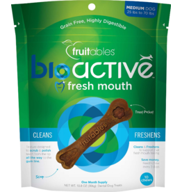 Fruitables Fruitables Dog Functional Hard Treats Bioactive Fresh Mouth Bones Medium 10 Pack 10.8 oz