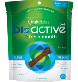 Fruitables Fruitables Dog Functional Hard Treats Bioactive Fresh Mouth Bones Small 15 Pack 7.3 oz